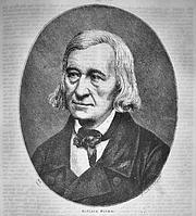 """Författarporträtt. Wilhelm Grimm c.1858 from; Die Gartenlaube - Illustrirtes Familienblatt (a successful mass-circulation German newspaper and """"modern"""" magazine)"""