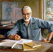 "Author photo. 1982, oil on canvas by Everett Raymond Kinstler (Commissioned by the Trustees of Dartmouth College) Image should not be reproduced or distributed without permission of the <a href=""http://hoodmuseum.dartmouth.edu/"">Hood Museum of Art</a>"