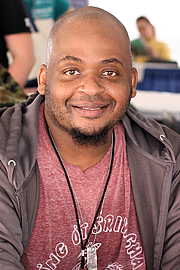 """Author photo. Author Kiese Laymon at the 2018 Texas Book Festival in Austin, Texas, United States. By Larry D. Moore - Own work, CC BY-SA 4.0, <a href=""""https://commons.wikimedia.org/w/index.php?curid=74113188"""" rel=""""nofollow"""" target=""""_top"""">https://commons.wikimedia.org/w/index.php?curid=74113188</a>"""