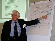 Author photo. Rom Harré in Tartu, at the philosophy of science workshop of the Institute of Philosophy and Semiotics, 2011 / Photo by Kk