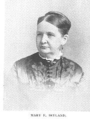 Author photo. Mary E. Ireland (b.1834), Buffalo Electrotype and Engraving Co., Buffalo, N.Y.