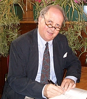 Author photo. Alexander McCall Smith, Hobart 25 August 2008