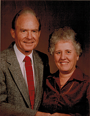 Author photo. Irving L Jensen (L) with wife Charlotte