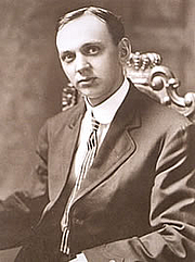 Author photo. Edgar Cayce in October 1910, when this photograph appeared on the front page of The New York Times.