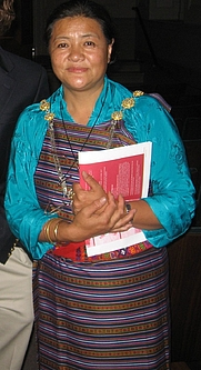 Author photo. Kunzang Choden after a book reading in Washington, DC, 2008 [credit: Shii at Wikipedia]