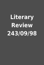 Literary Review 243/09/98