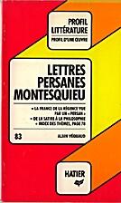 Lettres persanes Montesquieu by Alain…