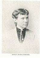 Author photo. Annie Maria Barnes (b.1857) Buffalo Electrotype and Engraving Co., Buffalo, N.Y.