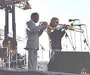 Author photo. Bob Brookmeyer, on right. Lochaven.