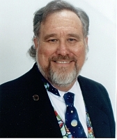 Author photo. Mike Shepherd Moscoe at the 2005 Nebula Awards weekend