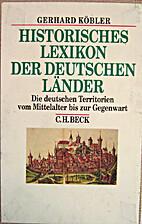 Historisches Lexikon der deutschen Länder.…
