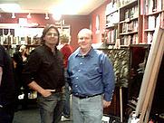 Author photo. Geoffrey Girard (on left).  Mari Adkins, October 14, 2006