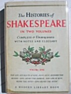 The Histories and Poems of Shakespeare…