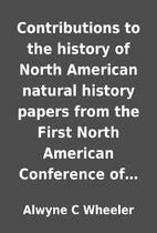 Contributions to the history of North…
