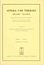 Afrika und Übersee 77 (1994) 2: 161-316