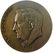Author photo. Jean Alazard (1887-1960) The Gold Medal of the City of Florence