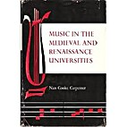 Music in the medieval and Renaissance…