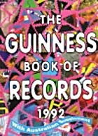 Guinness Book of Records 1992 by Donald…