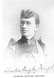 Author photo. Claudia Quigley Murphy (b.1863), Buffalo Electrotype and Engraving Co., Buffalo, N.Y.