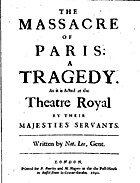 The Massacre of Paris: a tragedy [in five…