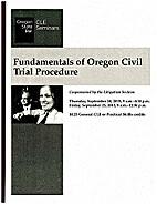 Fundamentals of Oregon civil trial…