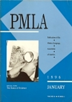 PMLA: Publications of the Modern Language…
