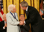 Author photo. Ruth Colvin having received the Presidential Medal of Freedom, 2006. White House photo by Eric Draper