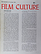 Film Culture (nº 47, Summer 1969) by Jonas…