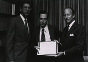 Author photo. Solomon Snyder (center, National Institutes of Medicine)