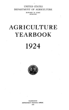 Agriculture Yearbook 1924 by Howard M Gore