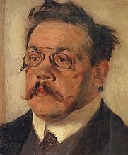 Author photo. Ludwig Thoma, Portrait von Karl Klimsch 1909