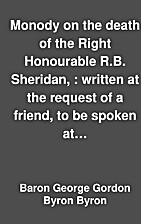 Monody on the death of the Right Honourable…