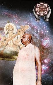 Author photo. Swami Sivananda Saraswati. SoulCollage® image created by Swami Jyotimitra Saraswati (Australia).