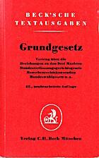 Grundgesetz by Diverse