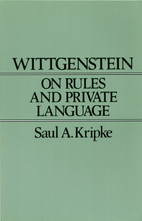 Wittgenstein; On Rules and Private Language;…