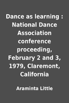 Dance as learning : National Dance…