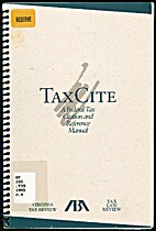 TaxCite: a federal tax citation and…