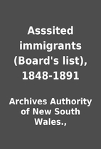Asssited immigrants (Board's list),…