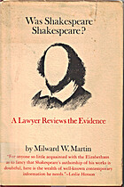 Was Shakespeare Shakespeare? A Lawyer…