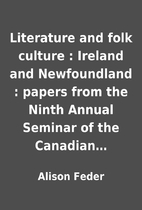 Literature and folk culture : Ireland and…