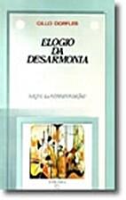 Elogio da desarmonia by G Dorfles