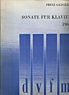 Sonate für Klavier (1968) by Fritz Geissler