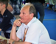 Author photo. Grandmaster Evgeny Sveshnikov at the Turin 2006 Olympiad
