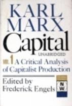 Capital: A Critique of Political Ecomony,…