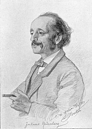Author photo. Julius Rodenberg. Portrait by Christian Wilhelm Allers. Wikimedia Commons.