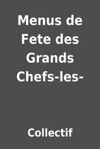 Menus de Fete des Grands Chefs-les- by…