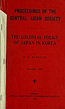 The colonial policy of Japan in Korea by…