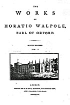 The works of Horatio Walpole, Earl of Orford…