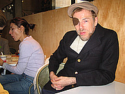 Author photo. Momus (right).  Credit:  Thessaly La Force, March 8, 2006