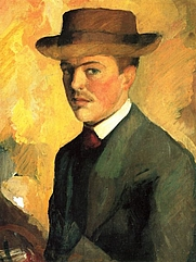 Author photo. Self-portrait, 1909
